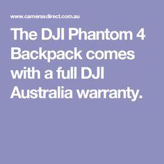 The DJI Phantom 4 Backpack comes with a full DJI Australia warranty.