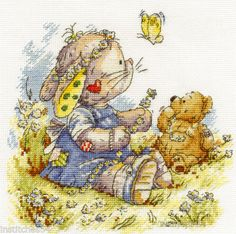 DMC-Somebunny-To-Love-Cross-Stitch-Kit-Daisy-Chain