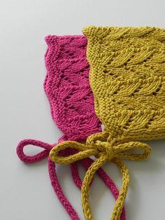af2a06b6033f1 Baby Bonnet Cotton Yarn Hand Knit Baby Bonnet Vintage Style Bonnet Baby  Pixie Hat Hand Knit Baby Hat Knit Baby Sunhat Baptism Girl Boho baby