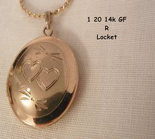 Red Tag Sale starts Sat Apr 27 8:00 AM, ends Sun Apr 28 7:59 AM Pacific Time. This item will be 50% off the price above during the Sale! Small lovely Vintage estate 1/20 14KT GF Heart etched Locket Marked R and NI