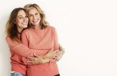J.Crew Lauren & Mirabelle 2011 Spring- Lauren Hutton and her daughter