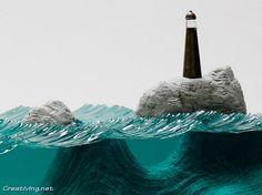 Океанские волны из ламинированного стекла от Бена Янга   Креативные фотографии