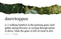 """Wordstuck - lit. """"dew treading"""" (submitted by Tine)"""