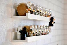 W mojej kuchni - część 1. Ikea Kitchen, Kitchen Interior, Kitchen Ideas, Kitchen Organization, Storage Organization, Spice Shelf, Storage Hacks, Wine Rack, Floating Shelves