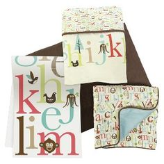 Skip Hop 4pc Crib Bedding Set with Complete Sheet -  Alphabet Zoo