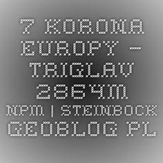 7. Korona Europy – Triglav 2864m npm|Steinbock - Geoblog.pl