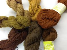 On Swedish Rya Yarn Frosta Vintage Virgin Wool In Excellent Condition 7 Skeins Of 100 G Each Earthy Browns