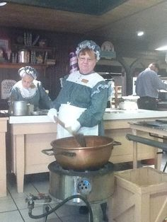Making Peanut Brittle, Brown's Candy Factory at Silver Dollar City July 2012