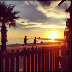 St Kilda Beach at Sunset, St Kilda, Melbourne