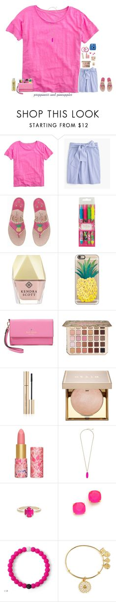 """✧ if you were a fruit, you'd be a fineapple"" by preppiness-and-pineapples ❤ liked on Polyvore featuring J.Crew, Jack Rogers, Lilly Pulitzer, Kendra Scott, Casetify, Kate Spade, Too Faced Cosmetics, Dolce&Gabbana, Stila and tarte"