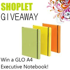 #Win a GLO Notebook! Repin, then go to our blog and comment letting us know what which colour you want the most :) *UK RESIDENTS ONLY* Good luck!