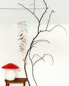 Mushroom lamp and mobile