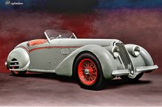 The Car: Alfa Romeo 8C 2900B Corto Touring Spyder, #412018, Unrestored, 1938  12cylinders