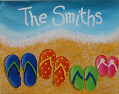 Personalized Family Flip Flop - Pinot's Palette - The Woodlands