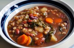 Beef Vegetable & Barley - Vegan w/ no-beef broth/bouillion