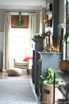 Christmas home tour, part 1! . . .such a gorgeous living room from Thrifty Decor Chick. Swoon.