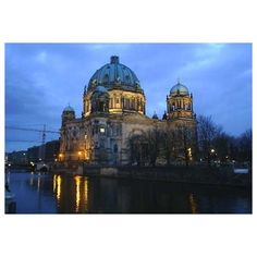 Berlin, City in Germany with Famous Public Buildings and Landmark ❤ liked on Polyvore