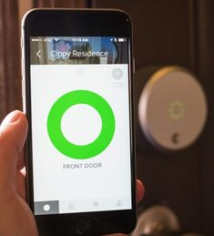 The August Smart Lock app lets you unlock your door with siri