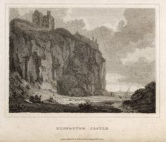 Engraved print of Dunnottar Castle, Stonehaven 1805 Christmas In Scotland, Castle Tattoo, Engraving Printing, Deer Tattoo, Scottish Castles, My Ancestors, Tartan, History, Country