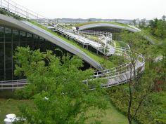 slopes with botanical landscape design by Toyoo Ito