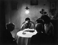 """W. Eugene Smith - Spain. Extremadura. Province of Caceres. Deleitosa. 1951. A family mourning the death of a relative. From """"Spanish Village"""""""