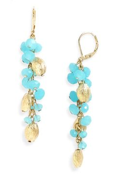Nordstrom Crystal Collection Clustered Earrings #nordstrom