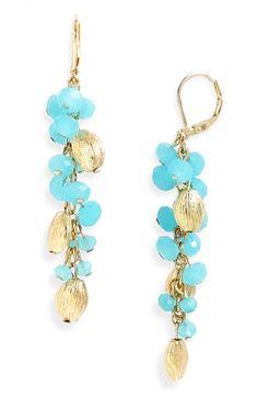 Clustered Earrings Aqua Opal