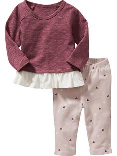 Peplum Top & Leggings Sets for Baby Product Image