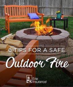 If your fall nights consist of cozying up to your fire pit, here's what you need to know first. Erie Insurance has suggestions for fire pit safety, maintenance and warming up in the cooler weather.