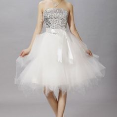 [grxjy560934]Sequin Glitter Bustier Lace Bridal Evening Tube Dress