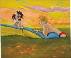 Lukas Duwenhögger (German, b. 1956), Ostia, 2000. Oil on canvas, 50.2 x 60.3 cm.