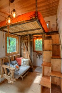 Austin Real Estate Photographer Tiny House Stairs, Tiny House Living, Tiny House Plans, Tiny House On Wheels, Loft Stairs, My House, Funky House, Bookcase Stairs, Storage Stairs