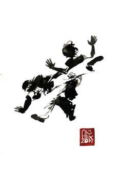 Encres : Capoeira – 598 [ #capoeira #watercolor #illustration]