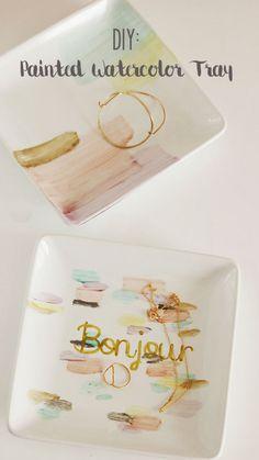 DIY Painted Watercolor Tray - Darling Darleen | A Lifestyle Design Blog