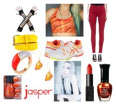 Jasper Closet Cosplay by thecrystalheart on Polyvore featuring J Brand, Asics, Van Cleef & Arpels and NARS Cosmetics