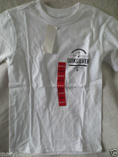 New Boy Youth Quiksilver T-Shirt White Size M 10/12 New
