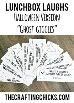 "Lunchbox Laughs Halloween Version-""Ghost Giggles"" Free Printable! Jokes for the Lunchbox!"