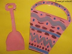 Dit knutselwerkje is maar 1 van de vele die we hebben in het thema zomer, bezoek Juf Milou voor nog meer knutselwerkjes. Diy Paper, Paper Crafts, Diy Crafts, Summer Crafts, Crafts For Kids, School Wide Themes, Reading Themes, Tapas, Ocean Themes