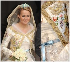 The Royal Order of Sartorial Splendor: Wedding Wednesday: The Duchess of Vendôme's Gown