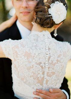Elegant wedding image shot with contax 645, fuji 400H