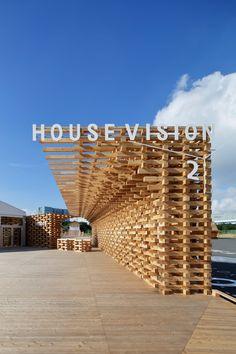 Kengo Kuma & Associates · Entrance of House Vision 2016 Tokyo Exhibition