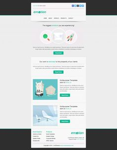 Emotion Email Template - Light Gray Email