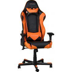 DXRacer Gamestoel & Bureaustoel - Racing - PU Leder - Zwart/Oranje