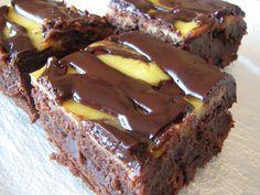 Lemon Mousse Brownies via La Mia Cucina, via Flickr