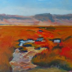 Not A River Run, oil on hardboard, 6x6 , $99, painting by artist Sharman Owings