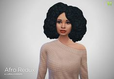 Sims 4 Hairs ~ Lumia Lover Sims: Afro hairstyle retextured in 6 colors Sims 3, Sims Four, Ethnic Hairstyles, Afro Hairstyles, Trendy Hairstyles, Maxis, Sims 4 Black Hair, Sims 4 Blog, Sims 4 Cc Makeup