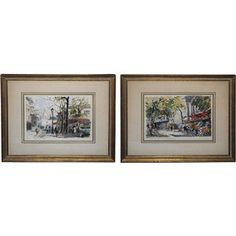 Pair Of Parisian Watercolors now featured on Fab.