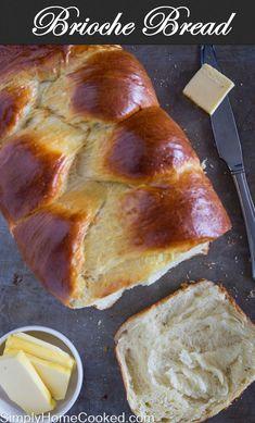 Fluffy yeast dough baked into the most incrednle braided brioche bread. #brioche #breadrecipe #homemadebread