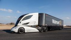 Walmart's Concept Truck Has Turbine. Efficiency counts when you have one of the world's largest commercial truck fleets. That's why Walmart has developed a new big rig that uses a radical design to increase airflow and cut fuel use.