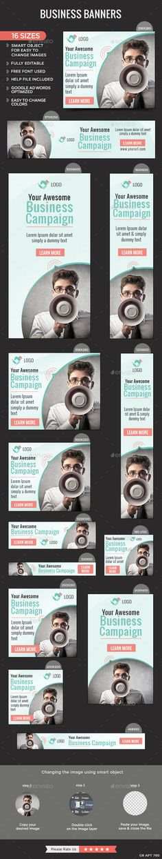 Business Banners Template #design Download: http://graphicriver.net/item/business-banners/12212664?ref=ksioks